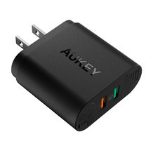 Aukey Adapter 2 Port Ai Power & QC 3.0 PA-T13