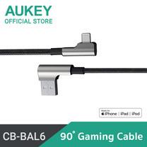 สายชาร์จ Aukey MFI Lightning Cable 90 Degree MFi Lightning 8 pin L = 1.2 m CB-BAL6