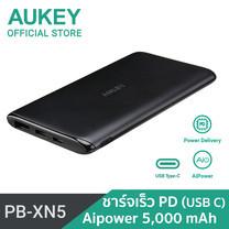 แบตเตอรี่สำรอง Aukey UltraSlim 5000 mAhUSB - C,AiPower PB-XN5