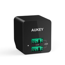AUKEY ULTRA COMPACT AiPower Adaptive Fast Charge 2 Port PA-U32​-Black