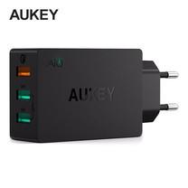 Aukey Adapter 3 Port QC 3.0 + AiPower 2 ช่อง พร้อมสาย 1 m. PA-T14