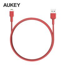 สายชาร์จ Aukey MFi Lightning 8 pin L = 1.2 m - Red