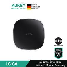 AUKEY LC-C6 AirCharged แท่นชาร์จไร้สาย  10W Wireless Fast Charging สำหรับ Samsung และ iPhone รุ่น LC-C6