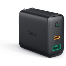 AUKEY หัวปลั๊กชาร์จเร็ว Dynamic USB-C Power Delivery 30W และ AiPower Fast Charge ช่อง รุ่น PA-D1