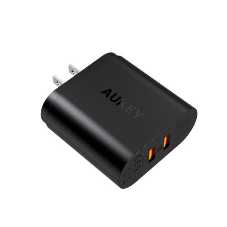 Aukey Adapter Dual QC 3.0 USB WC QC 3.0 + QC 3.0 PA-T16