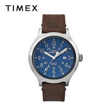 Timex นาฬิกาข้อมือผู้ชาย รุ่น TM-TW4B06400 สายหนัง สีน้ำตาล