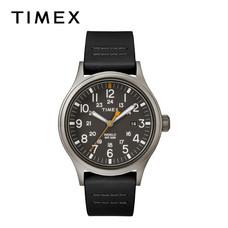 Timex นาฬิกาข้อมือผู้ชาย TM-TW2R46500 สายหนัง สีดำ