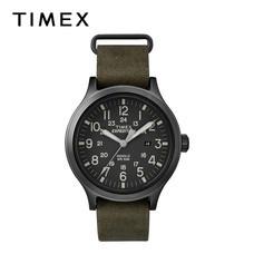 Timex นาฬิกาข้อมือผู้ชาย TM-TW4B06700 สายหนัง สีเขียว
