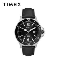 Timex นาฬิกาข้อมือผู้ชาย TM-TW2R64400 สายหนัง สีดำ