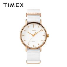 Timex นาฬิกาข้อมือผู้หญิง TM-TW2R49100 สายผ้าไนล่อน สีขาว