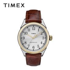 Timex นาฬิกาข้อมือผู้ชาย TM-TW2P99500 สายหนัง สีน้ำตาล