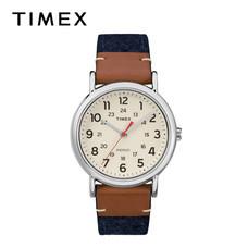 Timex นาฬิกาข้อมือผู้ชายและผู้หญิง TM-TW2R42000 สายหนัง สีน้ำเงิน