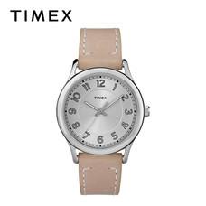 Timex นาฬิกาข้อมือผู้หญิง TM-TW2R23200 สายหนัง สีเบจ