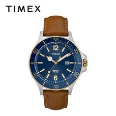 Timex นาฬิกาข้อมือผู้ชาย TM-TW2R64500 สายหนัง สีน้ำตาล