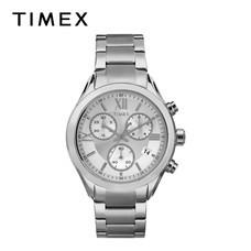 Timex นาฬิกาข้อมือผู้ชายและผู้หญิง TM-TW2P93600 สายสเตนเลส สีเงิน