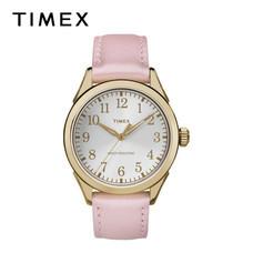 Timex นาฬิกาข้อมือผู้หญิง TM-TW2P99100 สายหนัง สีชมพู