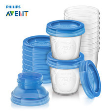 ฟิลิปส์เอเวนท์ ชุดถ้วยเวียสำหรับบรรจุน้ำนมหรืออาหาร ขนาด 6 ออนซ์/180 มิลลิลิตร จำนวน 10 ใบ SCF618/10