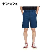 era-won กางเกงชีโน่ขาสั้น รุ่น SHORT CHINOS ทรง Slim - สีฟ้า Sca Bass