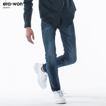 era-won กางเกงยีนส์ รุ่น JEANS DENIM ทรง Ultra Skinny - สีกรม Dark Light