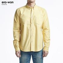 era-won เสื้อเชิ้ต รุ่น OXFORD SHIRT ANTI-BACTERIA ทรง Slim - สีเหลือง Caramel คอปก