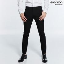 era-won กางเกงสแลค รุ่น MONOTONE ทรง Super Skinny - สีดำ Black Butterfly