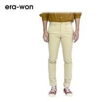 era-won กางเกงสแล็คขายาว รุ่น CITY LIGHT WRIGHT ทรง Super Skinny - สีเบจ City Beige