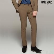 era-won กางเกงสแลค รุ่น MONOTONE ทรง Super Skinny - สีน้ำตาล Bear