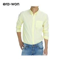 era-won เสื้อเชิ้ต รุ่น OXFORD SHIRT ทรง Slim - สีเหลือง Vitamin C