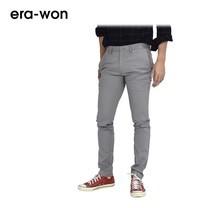 era-won กางเกงสแล็คขายาว รุ่น CITY LIGHT WRIGHT ทรง Super Skinny - สีเทา City Grey