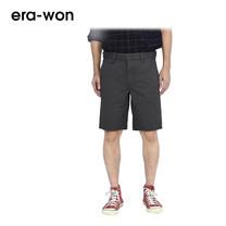 era-won กางเกงชีโน่ขาสั้น รุ่น SHORT CHINOS ทรง Slim - สีเทา Grey Car