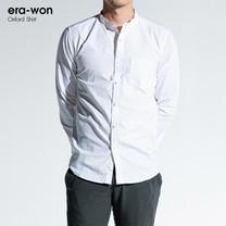 era-won เสื้อเชิ้ต รุ่น OXFORD SHIRT ทรง Slim - สีขาว White คอจีน