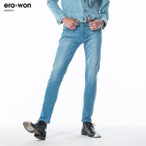 era-won กางเกงยีนส์ รุ่น JEANS DENIM ทรง Ultra Skinny - สียีนส์ Korean Sky