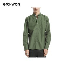 era-won เสื้อเชิ้ต รุ่น OXFORD SHIRT ANTI-BACTERIA ทรง Slim - สีเขียว Green Rome