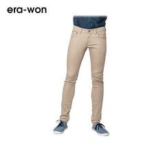era-won กางเกงยีนส์สี รุ่น JEANS DENIM COLOR ทรง Super Skinny - สีกากี Khaki