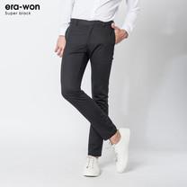 era-won กางเกงสแลค รุ่น SUPER BLACK ทรง Skinny Fit - สีดำ Black
