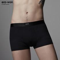 era-won กางเกงในชาย รุ่น UNDERWEAR ANTIBACTERIA ทรง Trunk - สีดำ/เทา 2 Tone (Black/Grey) / packs
