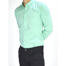 era-won เสื้อเชิ๊ต รุ่น SUPER SHIRT  ทรง Slim - สีเขียว Light Snakes