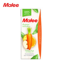 MALEE น้ำแครอทผสมน้ำผลไม้รวม 100% ขนาด 200 มล [1 ลัง บรรจุ 24 กล่อง]