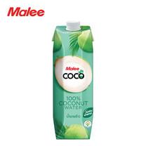 MALEE น้ำมะพร้าว 100% ขนาด 1000 มล. ตรามาลีโคโค่ [1 ลัง บรรจุ 12 กล่อง]
