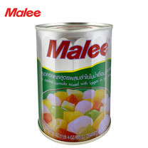 MALEE ฟรุตค็อกเทลกระป๋อง สูตรลำไย ขนาด 20 oz [1 ลัง บรรจุ 24 กล่อง]
