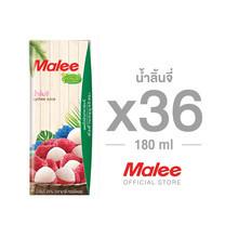 MALEE น้ำลิ้นจี่ 20% ขนาด 180 มล. ตรามาลี ทรอปิคอล [1 ลัง บรรจุ 36 กล่อง]