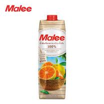 MALEE น้ำส้มเขียวหวาน (จากตำบลแม่สิน จังหวัดสุโขทัย) พร้อมเนื้อส้ม 100% ขนาด 1000 มล. [1 ลัง บรรจุ 12 กล่อง]