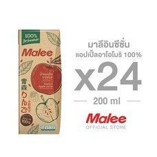 MALEE อินซีซั่น แอปเปิ้ล อาโอโมริ 100% ขนาด 200 มล. x 24 กล่อง ยกลัง