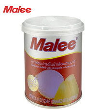 MALEE เงาะสอดไส้สับปะรดกระป๋อง ขนาด 8.25 oz [1 ลัง บรรจุ 48 กระป๋อง]