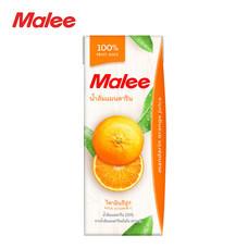 MALEE น้ำส้มแมนดาริน 100% ขนาด 200 มล. [1 ลัง บรรจุ 24 กล่อง]