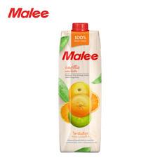 MALEE น้ำส้มทรีโอผสมเนื้อส้ม 100% ขนาด 1000 มล. [1 ลัง บรรจุ 12 กล่อง]