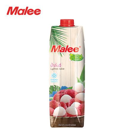 MALEE น้ำลิ้นจี่ 20% ขนาด 1000 มล. ตรามาลี ทรอปิคอล [1 ลัง บรรจุ 12 กล่อง]