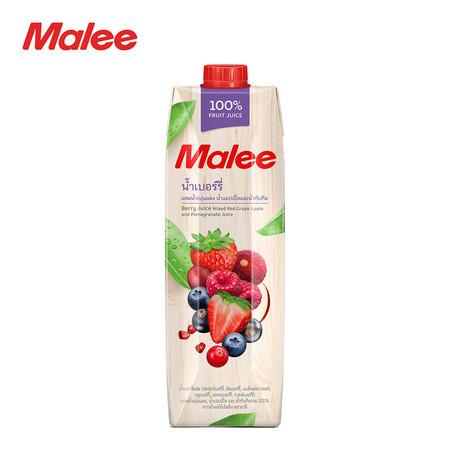 MALEE น้ำผักผลไม้รวม 100% สูตรมัลเบอร์รี่ ขนาด 1000 มล. [1 ลัง บรรจุ 12 กล่อง]