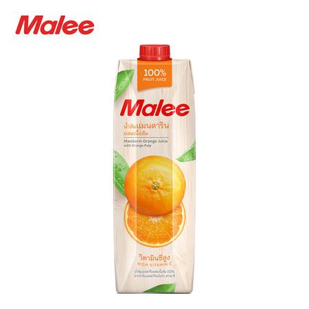 MALEE น้ำส้มแมนดาริน 100% ขนาด 1000 มล. [1 ลัง บรรจุ 12 กล่อง]