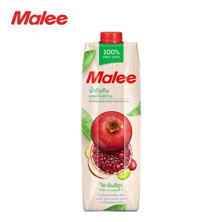MALEE น้ำทับทิมผสมน้ำผลไม้รวม 100% ขนาด1000มล. [1 ลัง บรรจุ 12 กล่อง]